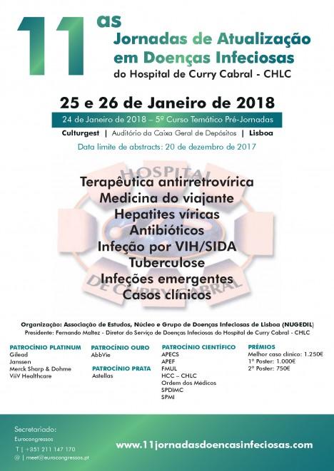 Cartaz 11as Jornadas DI do HCC 24 a 26 01 2018